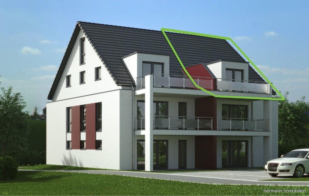 Maisonette-Wohnung mit ausgebautem Spitzboden (Visualisierung)