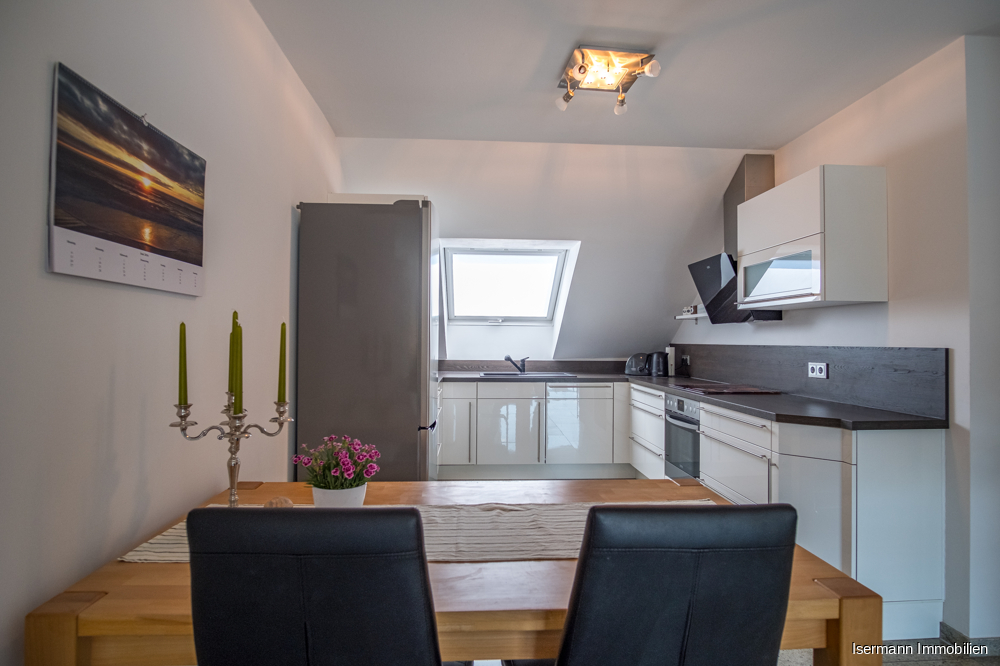 Die 2016 eingebaute Küche ist im Preis enthalten.