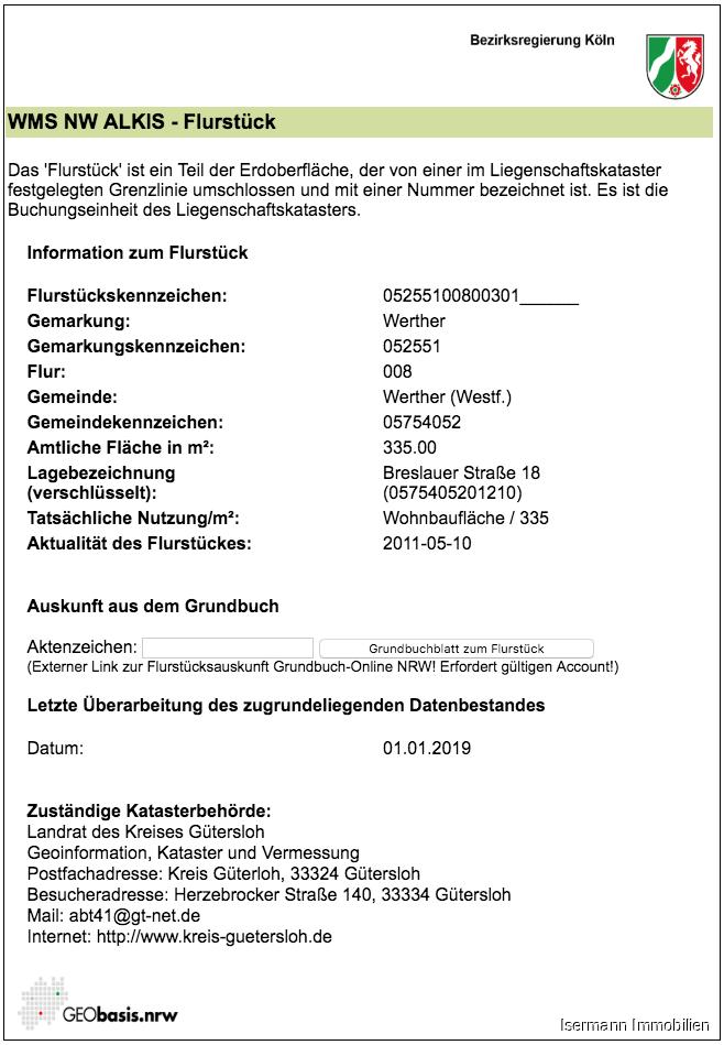 Informationen zum Flurstück