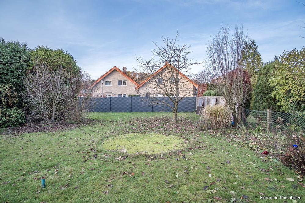 Der hintere Teil des Grundstücks kann bei Bedarf als Bauland genutzt werden.