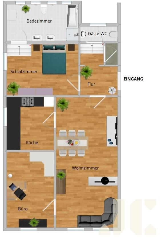 Grundriss Erdgeschoss links