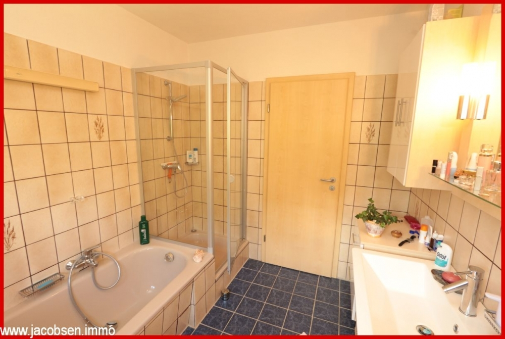 Dusch-& Wannenbad im Erdgeschoss