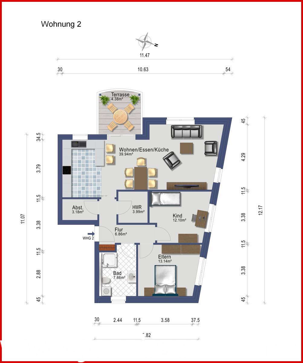 Wohnung 2 im Erdgeschoss rechts