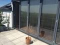 Terrasse komplett zu öffnen