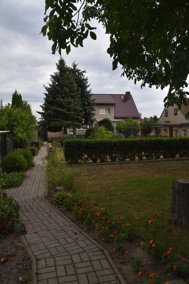 Garten Blick Richtung Haus