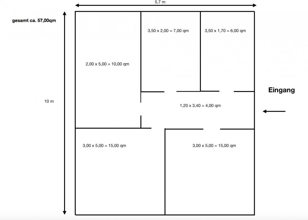 Grundriss 3 Raum Zahna-1