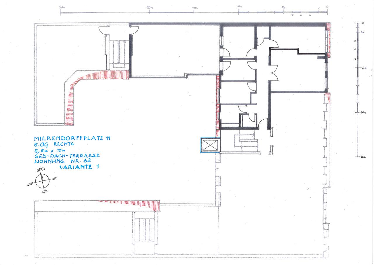 4-Zimmer = lediglich eine Wand nötig; Türen, Lichtauslässe, Strom usw ist alles vorbereitet