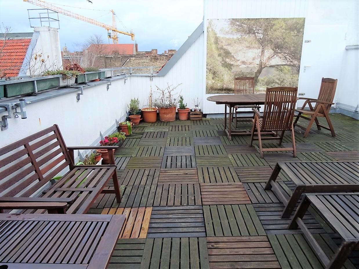 Terrasse 5,5 m x10 m