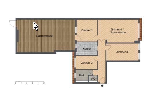 4 Zimmer Variante möglich