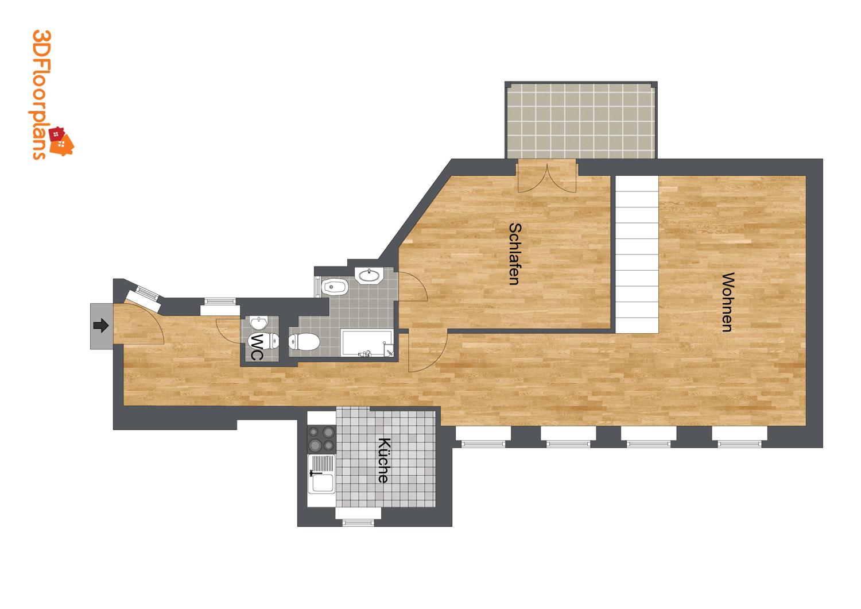 Grundfläche 1. Ebene