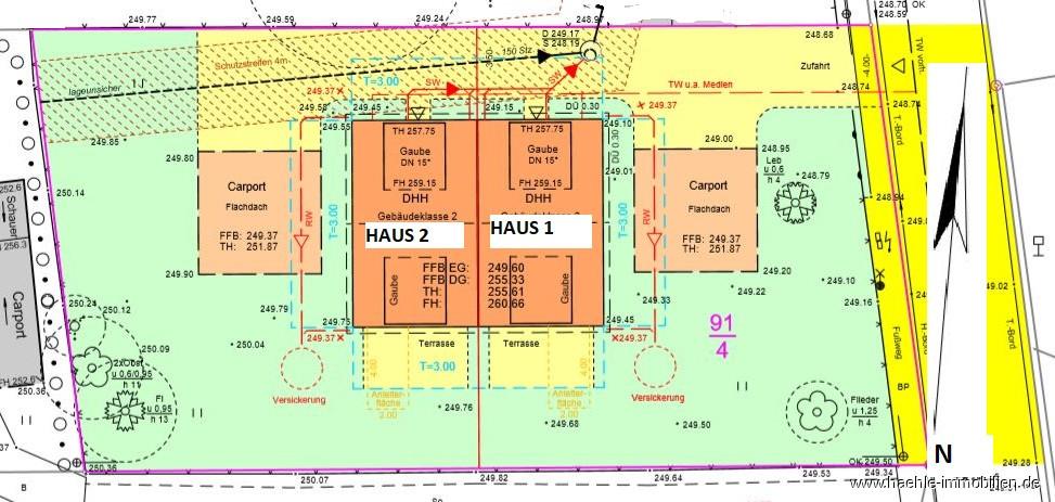 Lageplan Haus 1 u. 2