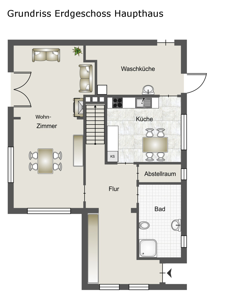 Erdgeschoss Haupthaus