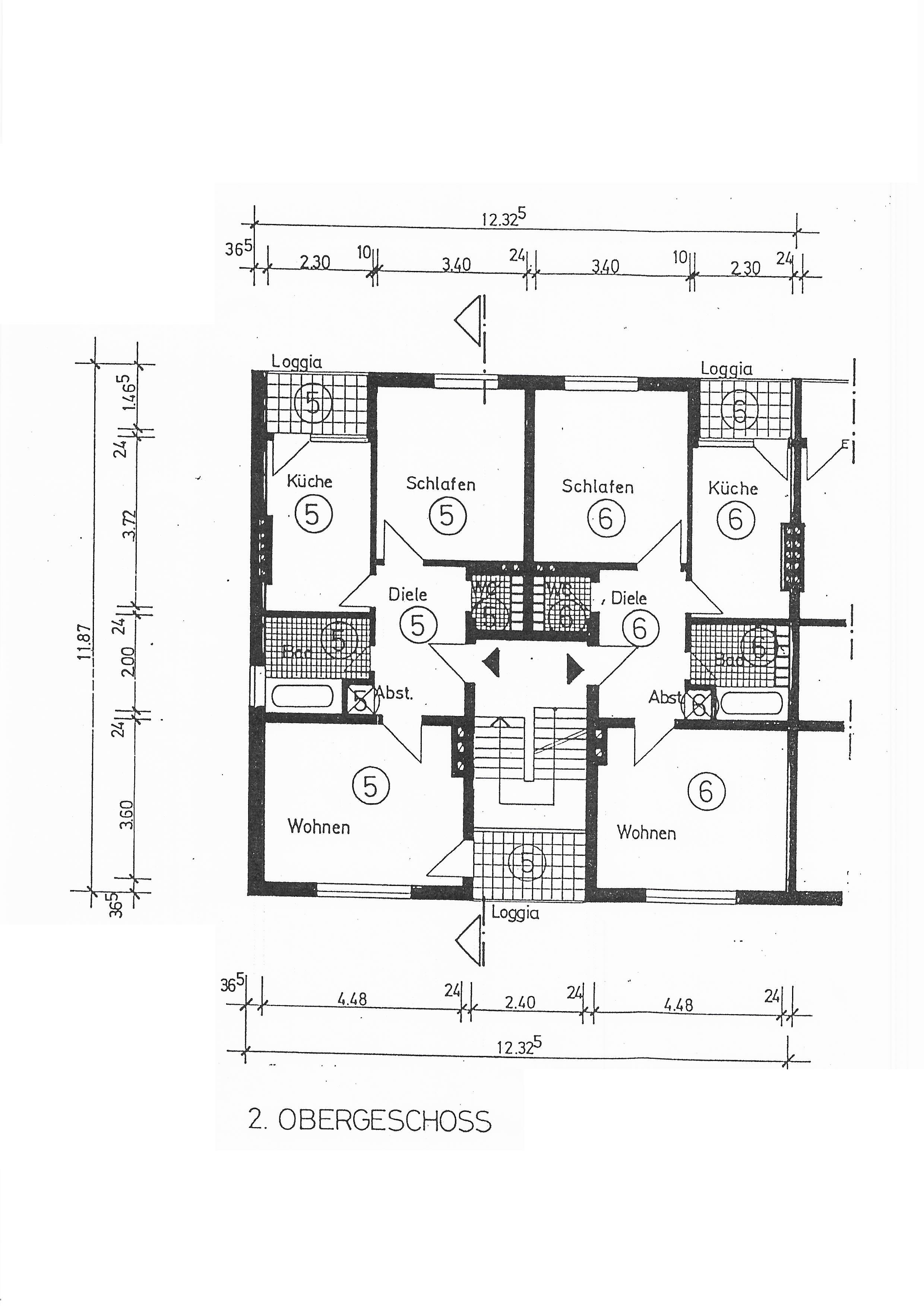 Grundriss WE 5 2. Obergeschoss