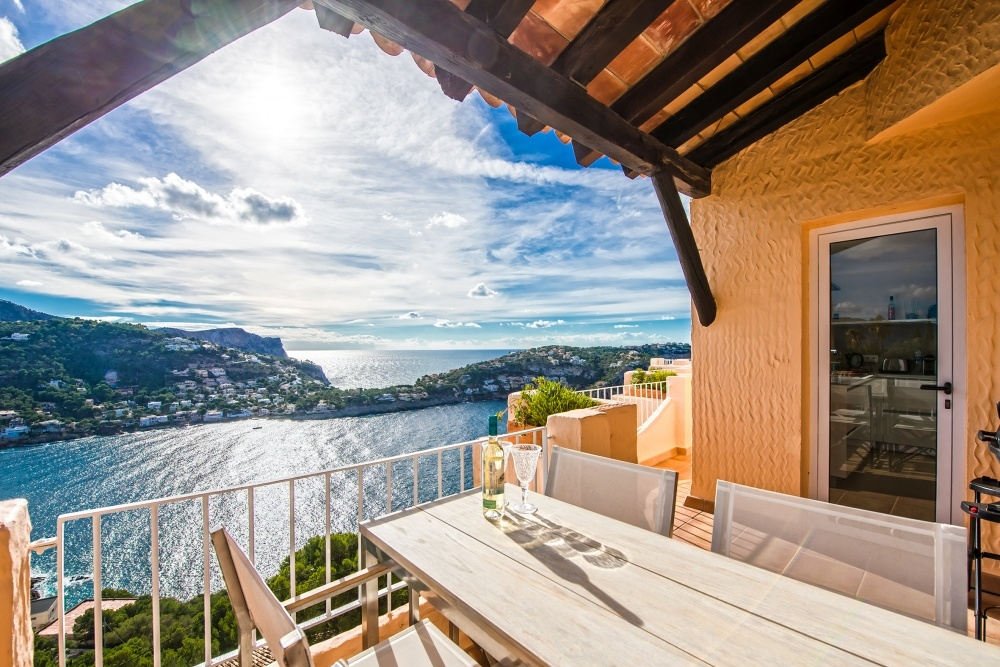 Wohnung auf Mallorca - Sonniges Apartment mit Meerblick in Port Andratx