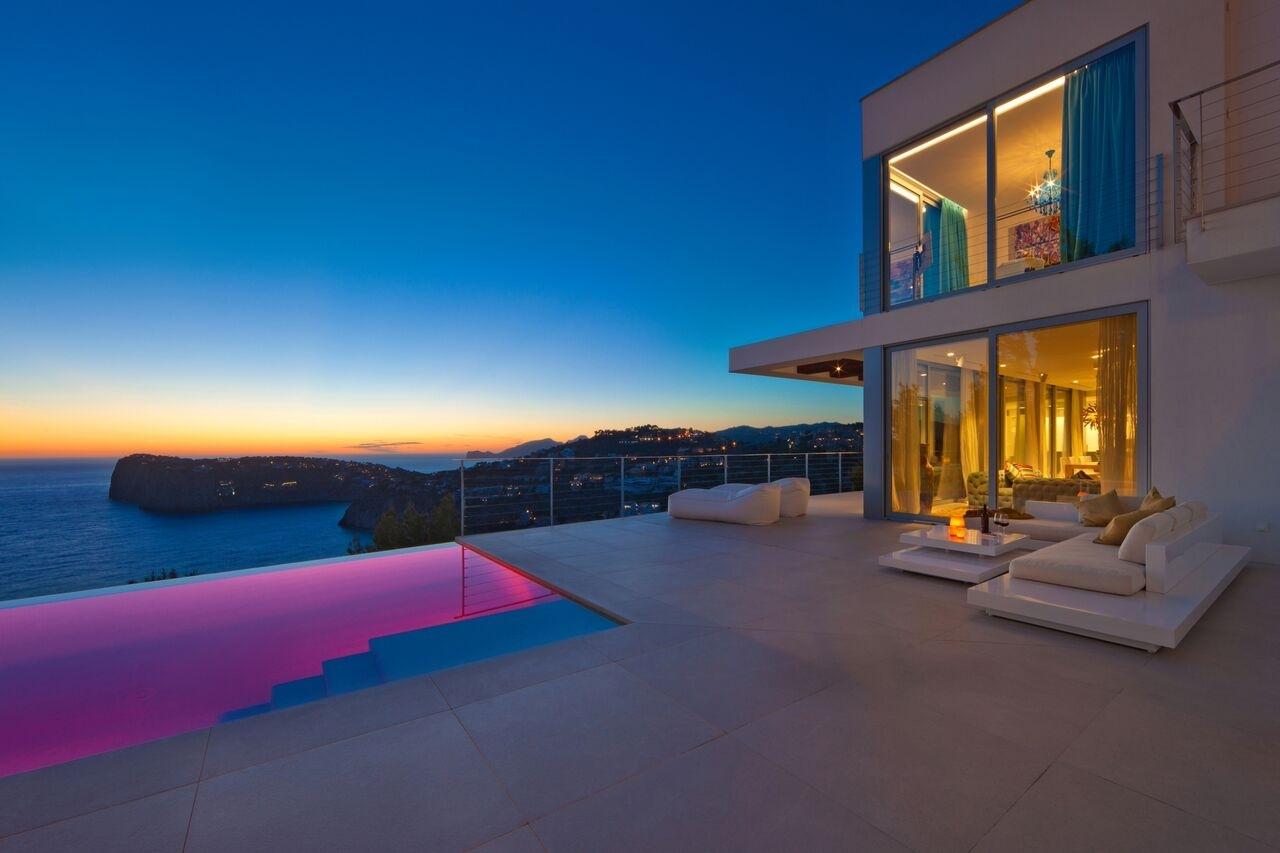 Blick auf Dragonera Sonnenuntergang Meerblick Villa Port Andratx