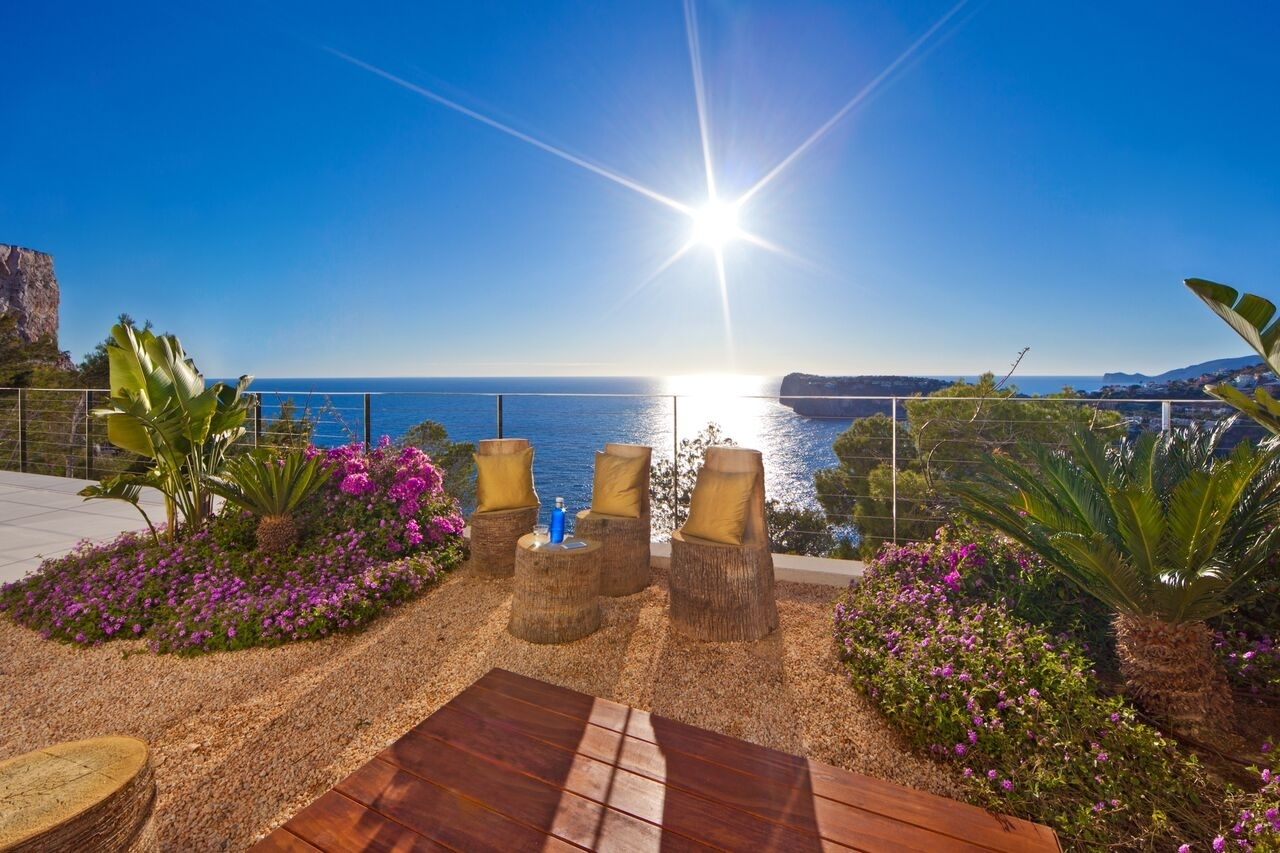 Gartenbereich Meerblick Luxus Villa Port Andratx
