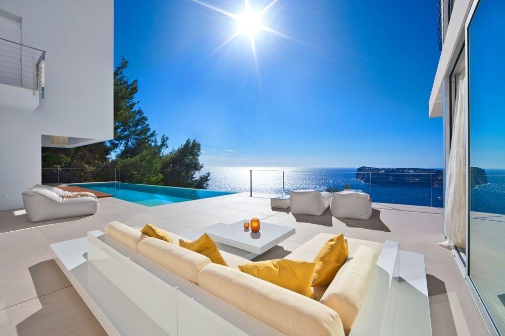 Terrasse mit Meerblick moderne Villa Port Andratx