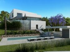 Grosser garten und Swimming pool in moderner Villa Costa d'el blanes zum Verkauf