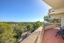Sea view terrace in Portals Nous villa for sale
