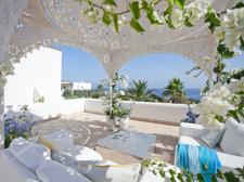 Terrace with sea views in villa Sol de Mallorca