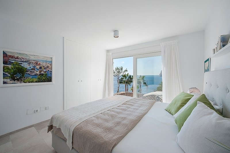 Schlafzimmer Meerblick Villa Camp de Mar Dormitorio con vistas al mar Villa Camp de Mar bed room sea view sea views