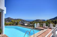 Poolbereich Mallorca Meerblick Villa