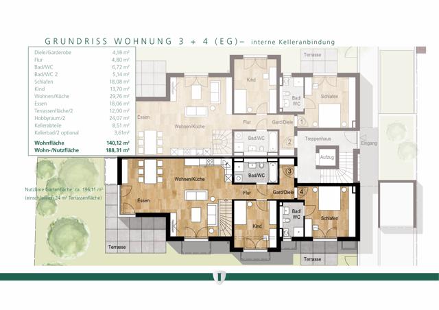 Wohnung 3 EG erweitert