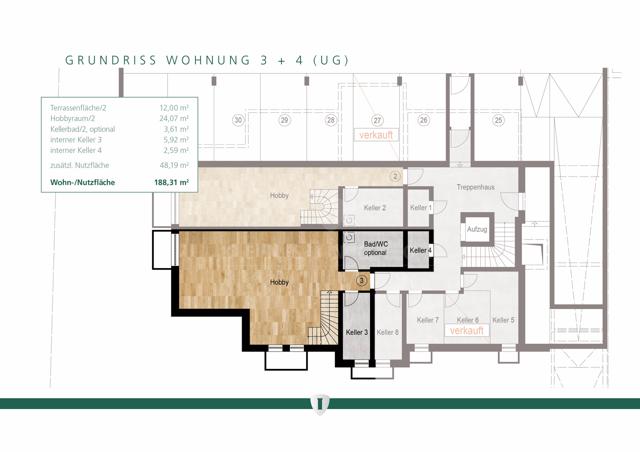 Wohnung 3 UG erweitert