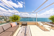Terrasse mit Meerblick Illetas Mallorca Apartment