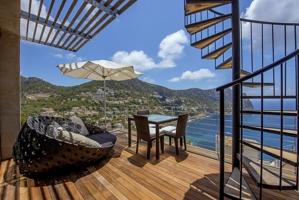 terraza con vistas al mar Puerto de Andratx