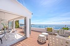 Terrasse mit Meerblick in Illetas penthouse zu verkaufen in mallorca Immobilien