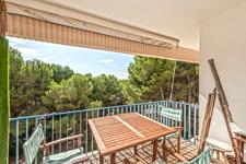 Terrasse in Sol de Mallorca Immobilie in der Nähe vom Strand