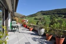 Terrasse mit wunderbarem Weitblick