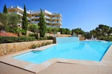 Wohnung mit Gemeinschaftspool und Meerblick in Sol de Mallorca zu verkaufen
