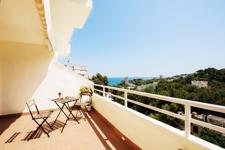 Terrasse mit Meerblick in Cas Catala Wohnung in Edificio Sol