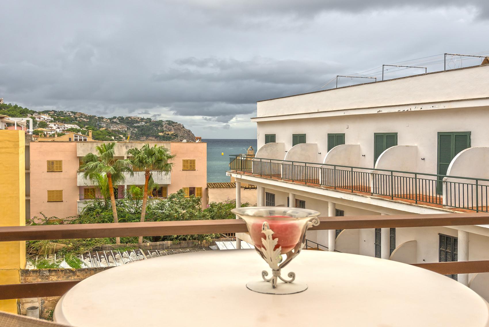 Balkon mit Meerblick in Mallorca