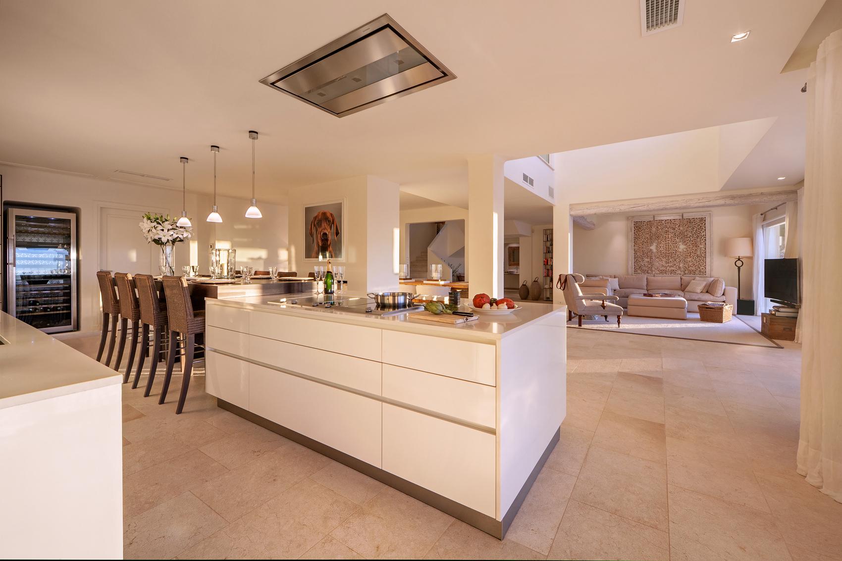 Offene Küche mit Blick