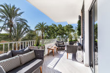 Sunny terrace with port views in Portals  apartment