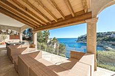Sea view terrace in Sol de Mallorca luxury property for sale