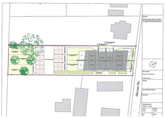 Lageplan Stadthäuser