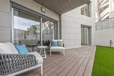 Garten mit Terrasse Wohnung Port Andratx