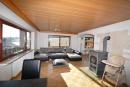 Wohnzimmer mit Kaminofen EG