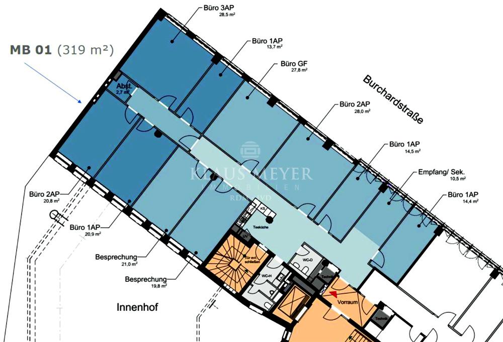 1.OG ca. 319 m²