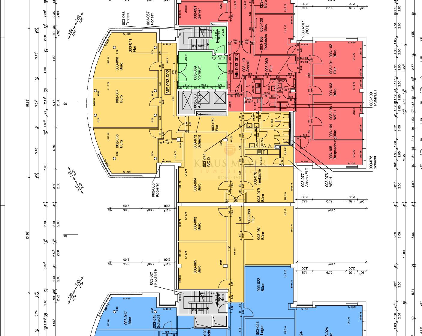 Grundriss 3.OG, ca. 409m²