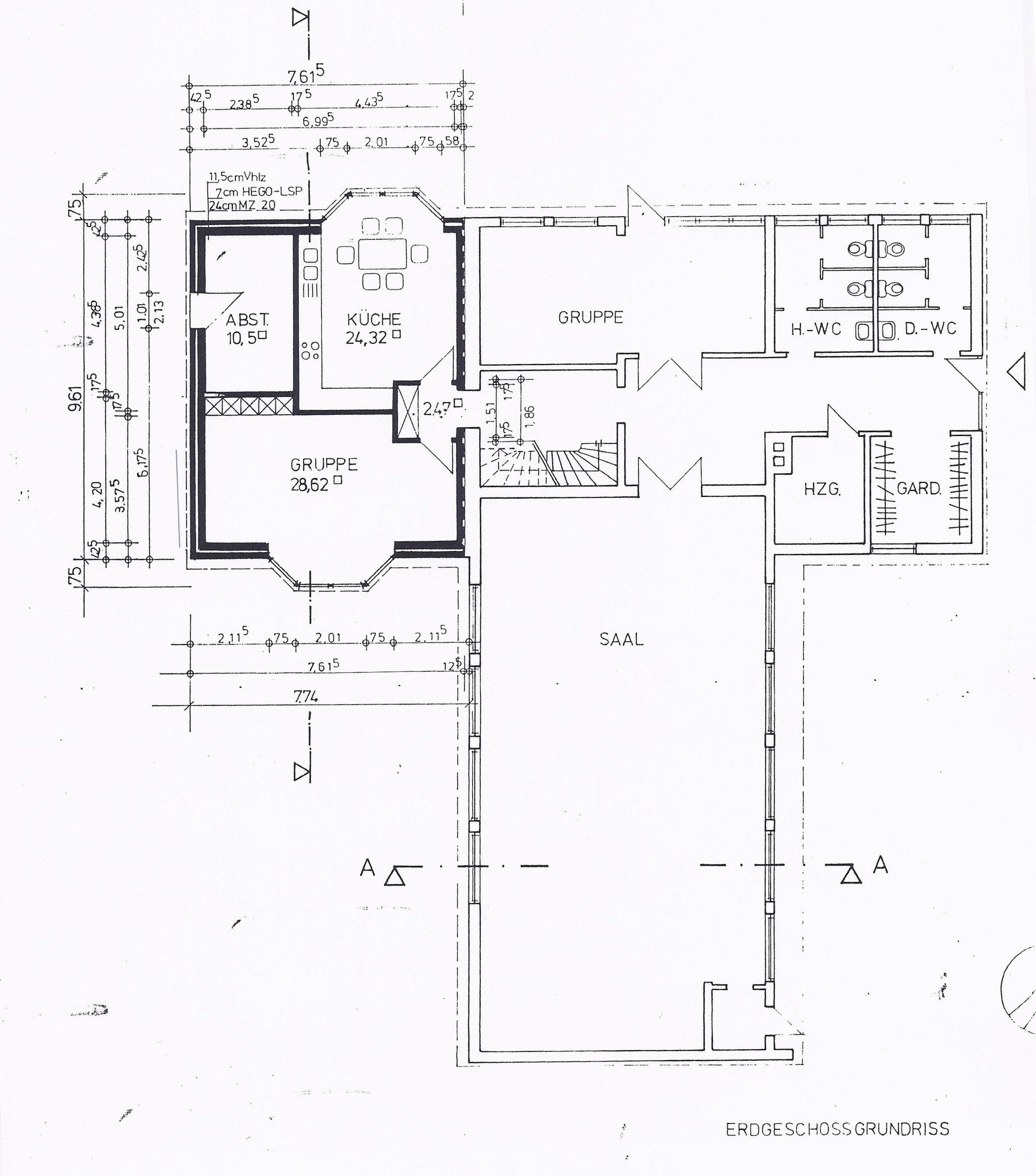 Grundriss Gemeindehaus