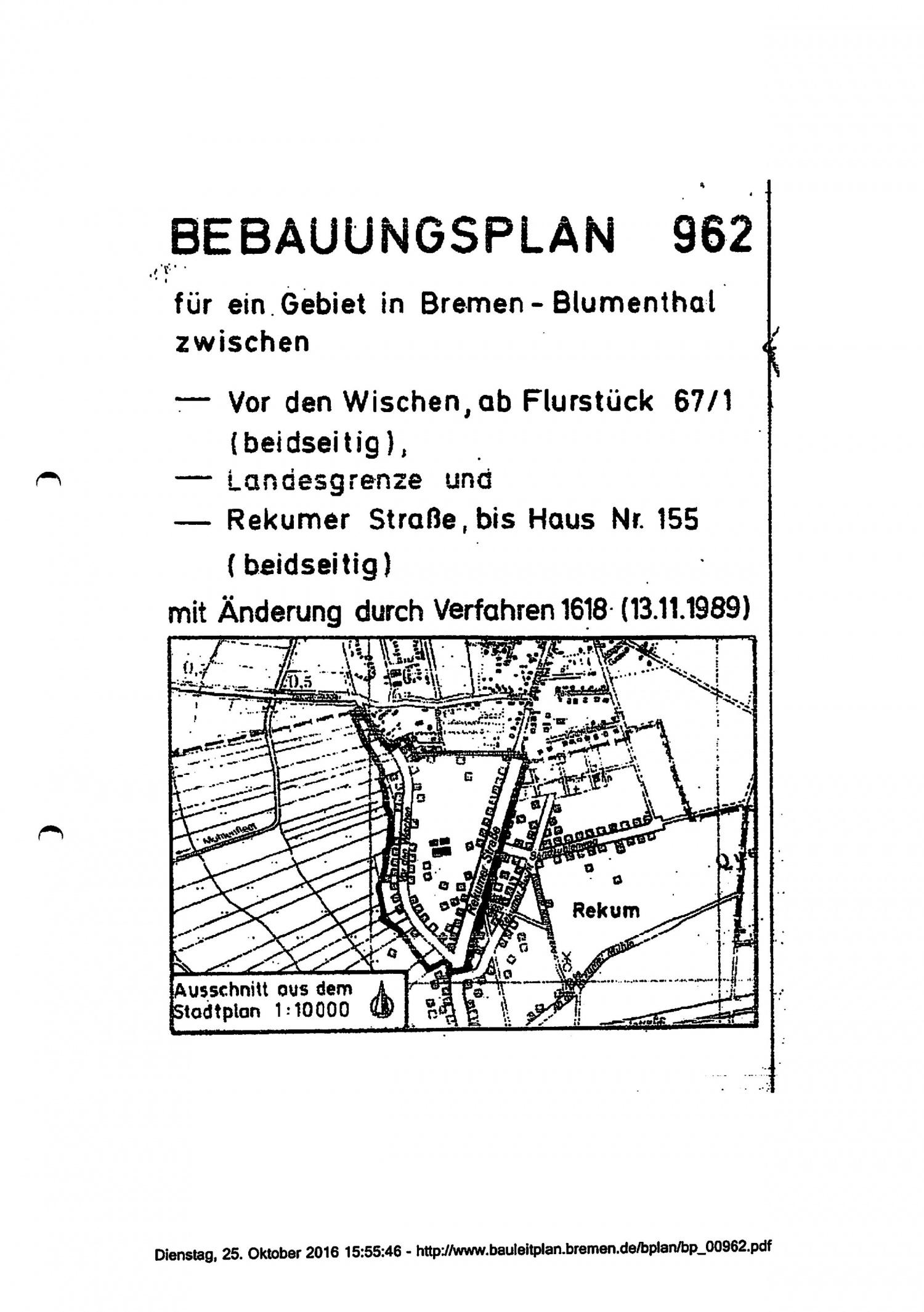 Bebauungsplan Seite 1