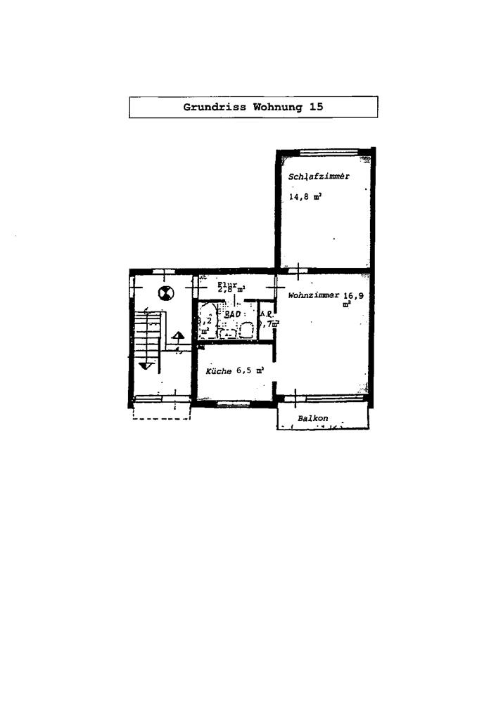 Grundriss Wohnung 15