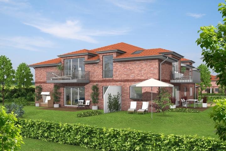 Bild Haus 5 mit Garten und Himmel