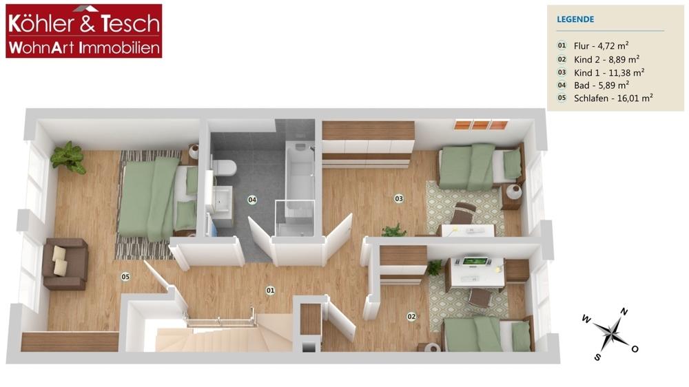 ( Beispiel)Grundriss Obergeschoss
