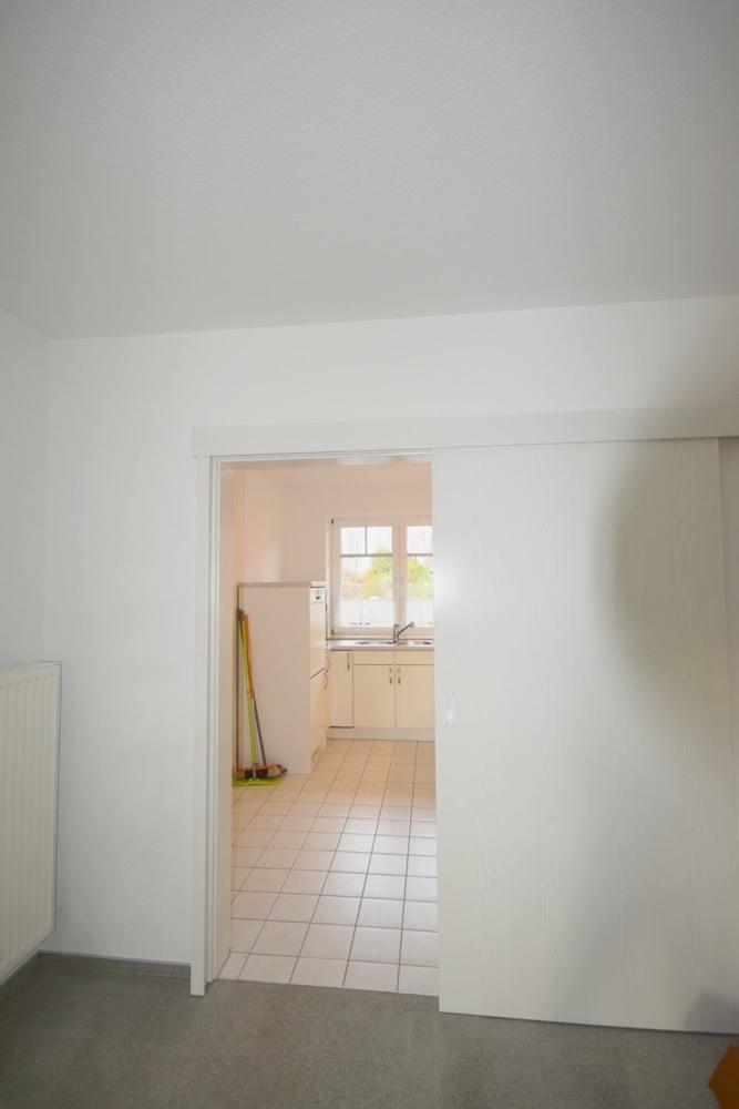 Schiebetür zwischen Küche und Essbereich Wohnzimmer